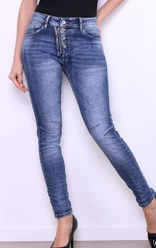 Efashion Areline - Jeans MC7007 4 knappar och zip