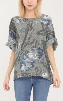 Efashion Chana - Blus H6045 Blommig