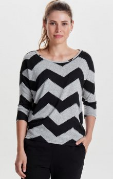 Only - onlElcos 4/5 Top Black Zigzag