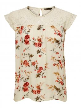 Only - onlKarmen SL Top AOP Rose Flower