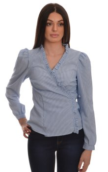 Only - onlLecey Stripe Wrap Shirt