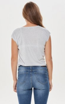 Only - onlSilvery V-neck Lurex Top