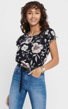 Only - onlVic SS AOP Top Flower Leaf
