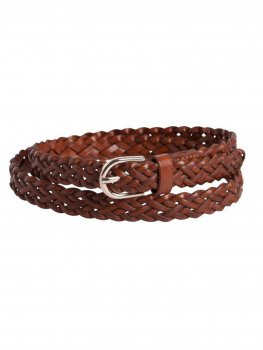 Pieces - pcAvery Leather Braided Slim Belt