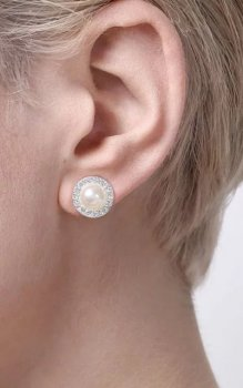 Snö - Carla Small Pearl Ear white