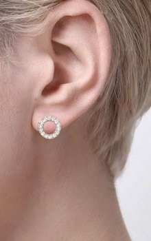 Snö - Spark Small Coin Ring Ear Guld