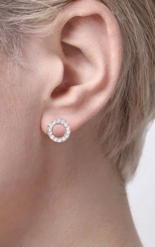 Snö - Spark Small Coin Ring Ear Rosé