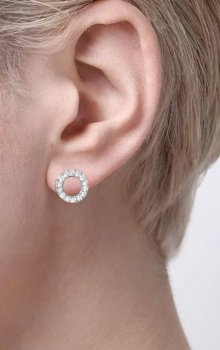 Snö - Spark Small Coin Ring Ear Silver