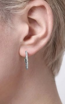 Snö - Story Small Ring Ear s/clear