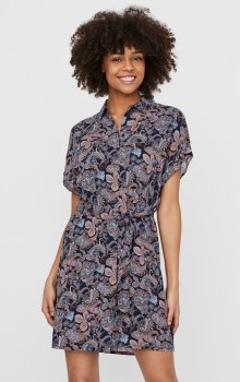 Vero Moda - vmSimply Easy SS Shirt Dress Paisley Night Print