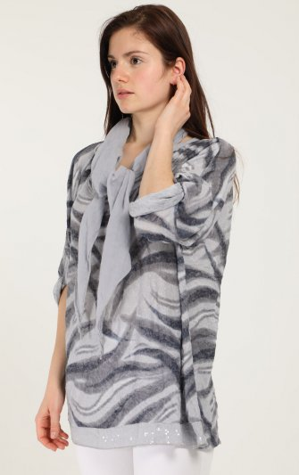 Efashion Chana - Blus H6258C med scarf