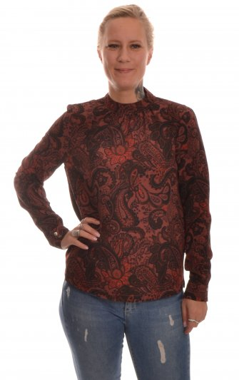Only - onlNova Lux Highneck Top Clan Paisley