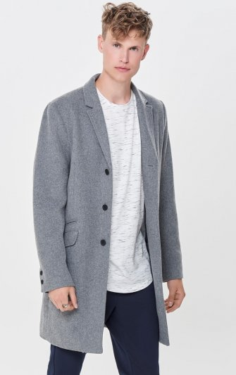 Only & Sons - onsJulian Solid Wool Coat